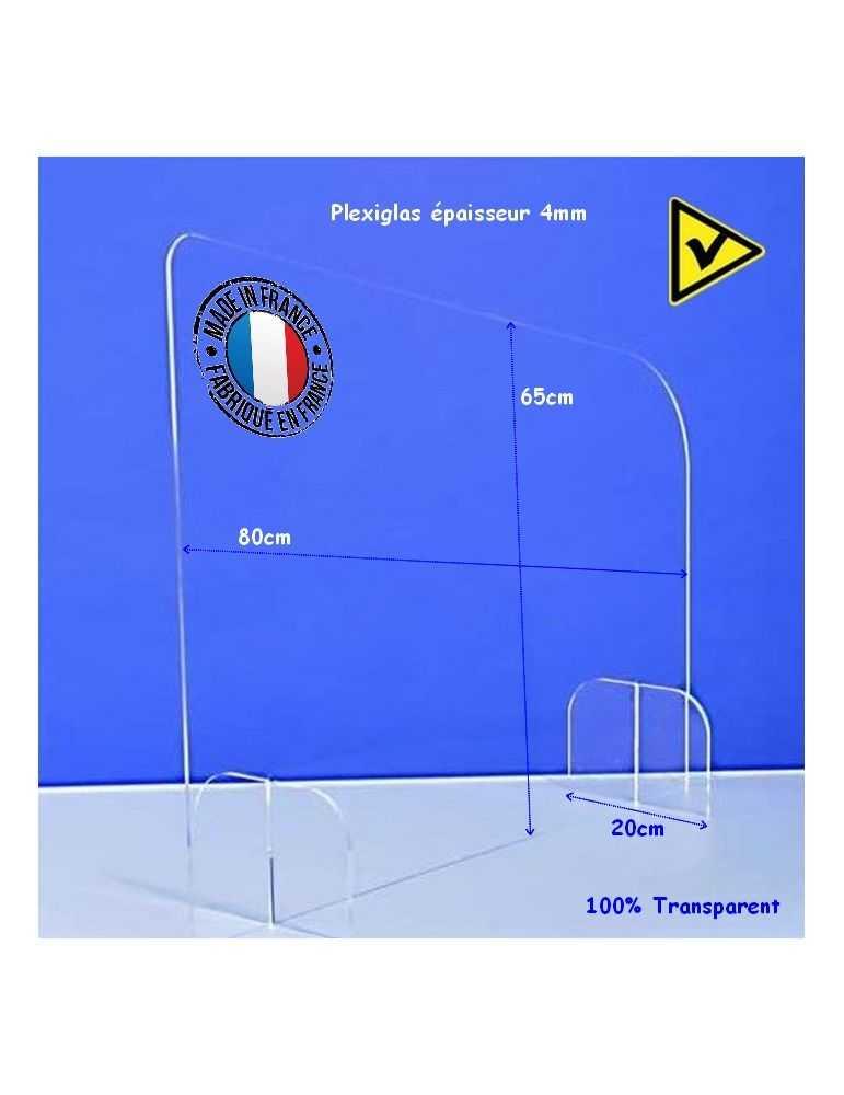 Séparateur de bureau latéral openspace - Réf.: FLxSEPL hygiaphone plexiglas dimensions videoson