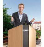 Pupitre de conférence pliable ITEC SUCCESS face zoom