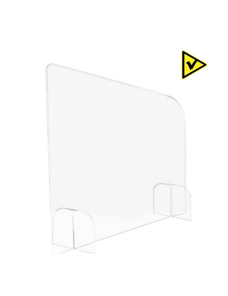 Séparateur de bureau latéral openspace - Réf.: FLxSEPL hygiaphone plexiglas translucide covid-19 videoson
