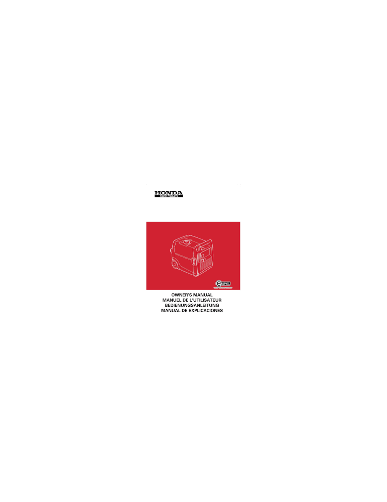 HONDA ECT7000 - Manuel utilisateur - Mode d'emploi - Notice HONDA - Videoson.eu