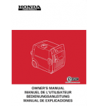 HONDA EC4000 - Manuel utilisateur - Mode d'emploi - Notice HONDA