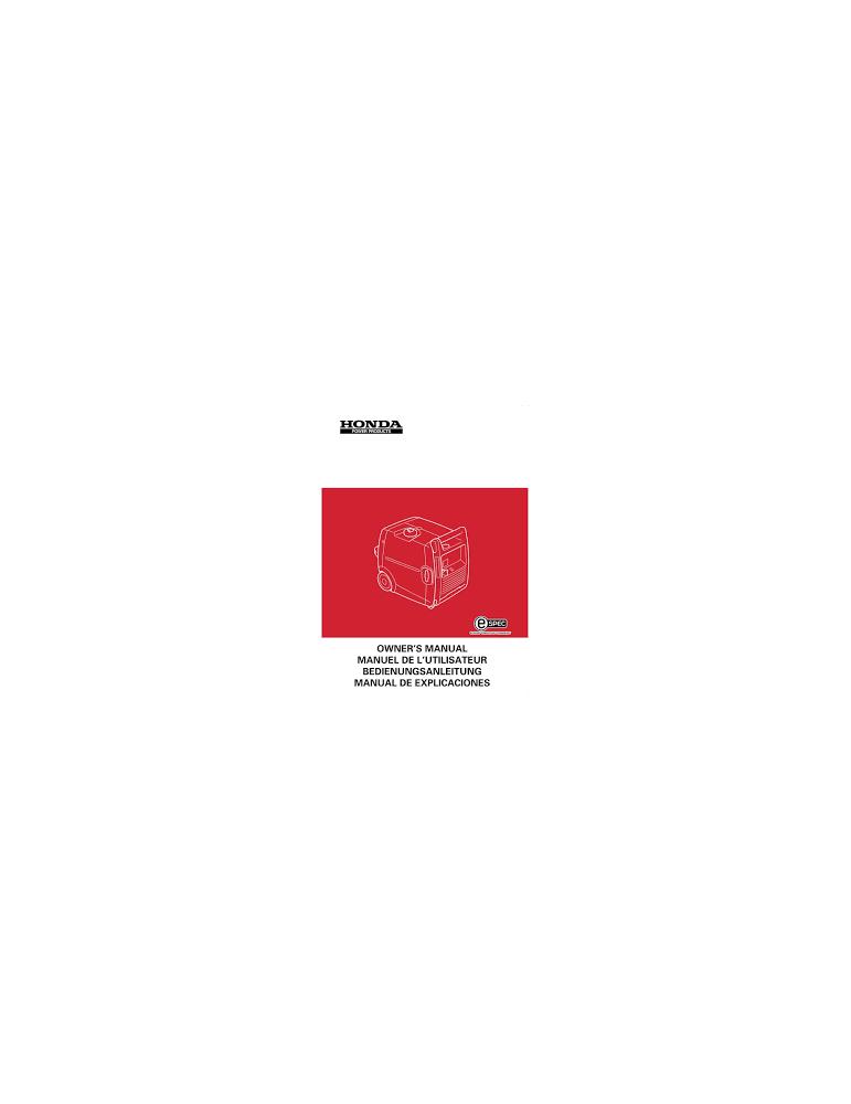 HONDA EX4000 - Manuel utilisateur - Mode d'emploi - Notice HONDA