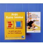 Porte-affiche plexiglas DOUBLE FACE A2 Horizontal - videoson.eu