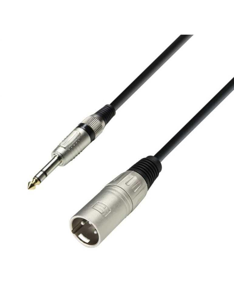Câble module micro, jack 6,35 mâle vers XLR mâle 3 broches , 1m.