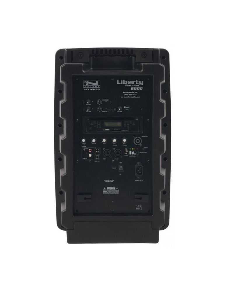Enceinte ANCHOR Liberty batteries Lithium/secteur avec Bluetooth + lecteur CD/MP3/Port USB/Carte SD intégré + 2 doubles récepteu