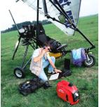 Groupe électrogène HONDA EU10i 230V - 1000 VA / 50 Hz + 12 V - 8 A  - inverter Deltaplane