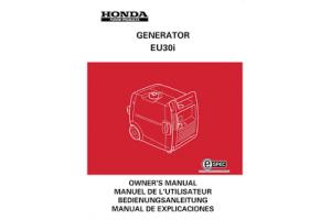 Manuels Utilisateur HONDA Groupes électrogènes HONDA HONDA EC2000 - Manuel utilisateur - Mode d'emploi - Notice HONDA