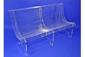 Chaises transparentes tabourets et fauteuils Mobilier Plexiglas Banc plexiglas - Réf.: FLxBAN