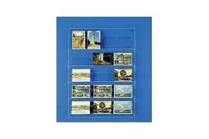 Présentoirs de Cartes postales ou cartes de visite de bureau (plexiglas) - Réf.: FLxCPV