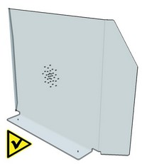 hygiaphone plexiglass sans passe-documents